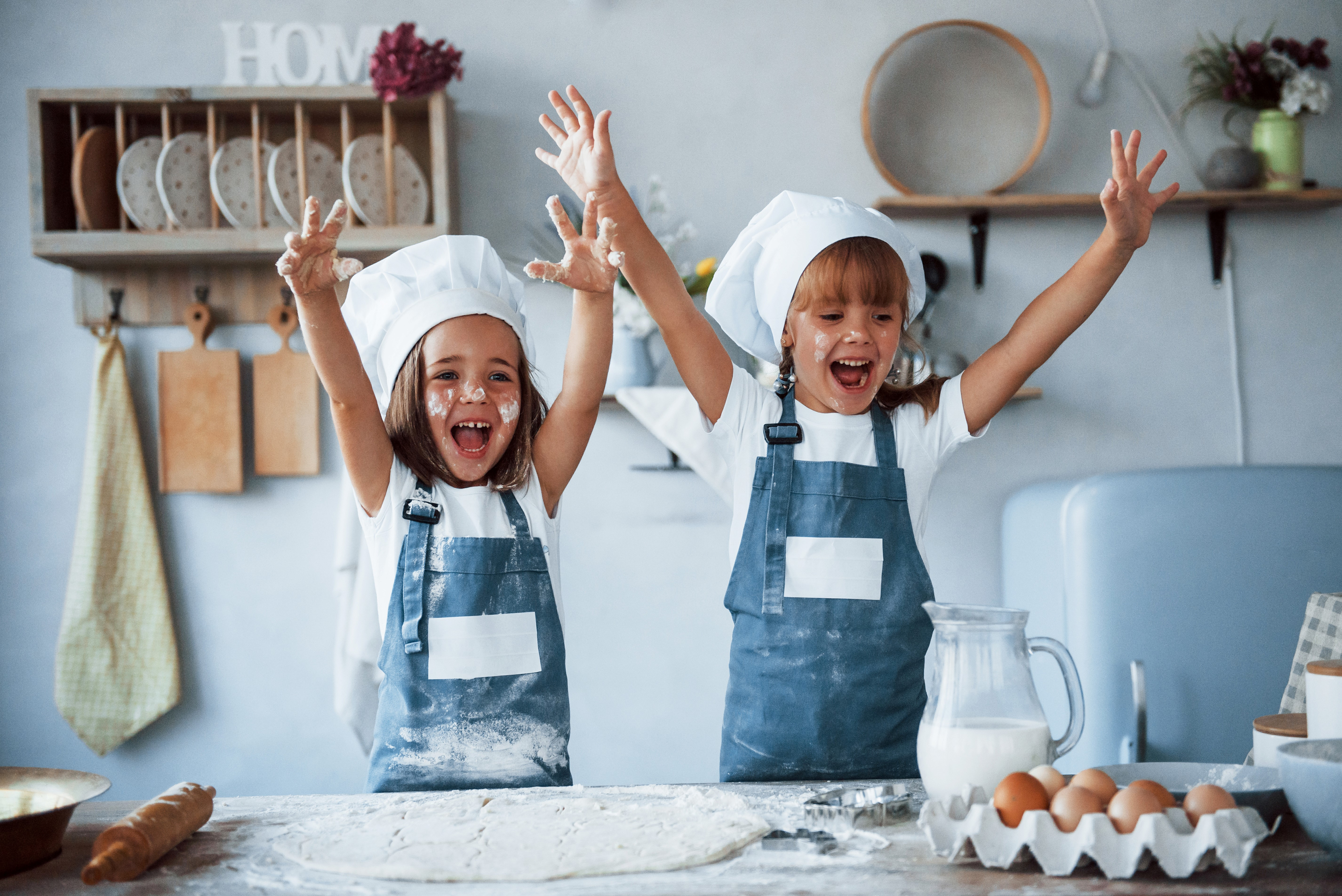 Kids Having Fun Learning How to Cook While Stuck At Home
